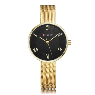 CURREN Mode Luxus Edelstahl Frauen Uhren Quarz 3ATM wasserdicht Frau Casual einfache Armbanduhr