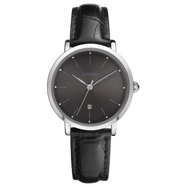 Cadisen Mode Frauen Uhren Analog Quarz Luxus PU Leder Kleid Kalender Armbanduhr Einfach Kausal Geschenk für Frauen