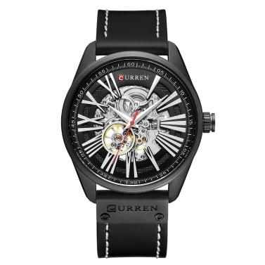 CURREN 8299 Herrenuhr Marke Mechanische Tourbillon Armbanduhr