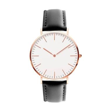 Hombres Mujeres Moda Simple Reloj Ultra-Delgado