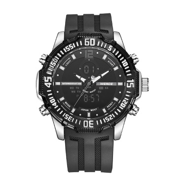 WEIDE WH6105 Dual Display Quartz Digital Men Watch