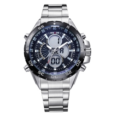 WEIDE WH1103 Dual Display Zwei Bewegung Quarz Digital Herrenuhr