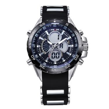 WEIDE WH1103 Dual Display Two Movement Quartz Digital Men Watch
