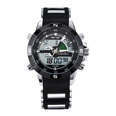 WEIDE WH1104 Dual Display Zwei Bewegung Quarz Digital Herrenuhr