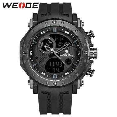 WEIDE WH6903 Dual Display Two Movement Quartz Digital Men Watch