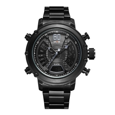 WEIDE WH6905 Dual Display Zwei Bewegung Quarz Digital Herrenuhr