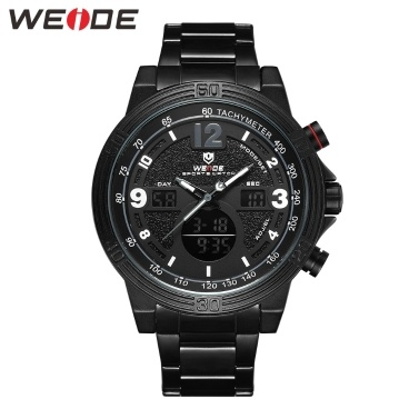 WEIDE WH6908 Dual Display Zwei Bewegung Quarz Digital Herrenuhr