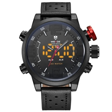 WEIDE WH5210 Dual Display Two Movement Quartz Digtal Men Watch
