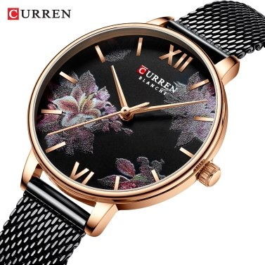 CURREN 9060 Luxus Casual Business Quarz Damenuhr