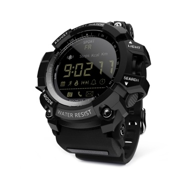 LOKMAT MK16 Smart Watch Military Army Rugged Men Women Watch 12-months Battery Life IP67 / 5ATM Waterproof EL Luminous Sports BT Smartwatch Pedometer Activity Fitness Tracker Remote Camera Alarm Week Date Wristwatch for Android / iOS