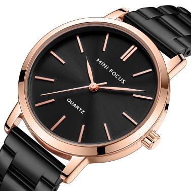 MINI FOCUS Women Classic Quartz Watch Ladies Fashion Wrist Watch with Solid Steel Band 3ATM Waterproof for Daily & Business Box Package