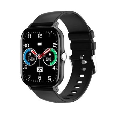 """Relógio esportivo com pulseira inteligente LEMFO KT48 de 1,7 """"com tela IPS"""