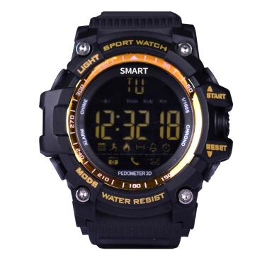 Sport Smart Uhr FSTN LCD Display BT 4.0 Fitness Tracker Schrittzähler Stoppuhr Fernbedienung Kamera Armbanduhr für iOS 7,0 & Android 4,3