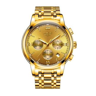 LIGE Mode Luxus Edelstahl Männer Uhren 3ATM wasserdicht Quarzuhr Luminous Sport Mann Armbanduhr Männlich Relogio Musculino Chronograph