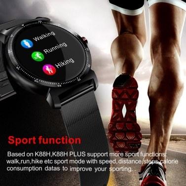 CACGO K88HPLUS Uhr Smartwatch Frauen Männer Herzfrequenz Kalorien Schlaf Monitor BT 1.3in IPS Bildschirm Sportuhr Tragbare Geräte