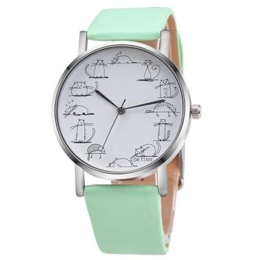 Tierzifferblatt Palte Nette Katzen-Entwurfs-Armbanduhr