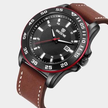 SKONE Fashion Casual Watches 3ATM Water-resistant Men Quartz Watch Male Military Wristwatch Relogio Musculino