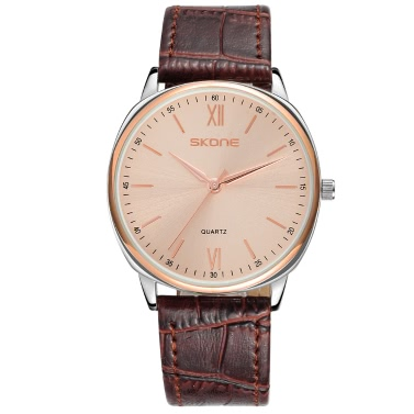 SKONE Casual Ultra-thin Men Watches Elegant Simple Quartz Watch 5ATM Water-resistant Male Wristwatch Relogio Musculino