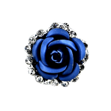Fashion Alloy Crystal Rhinestone Ear Stud Earrings for Women Girl Rose Flower Red Blue Optional Gift Party Wedding Jewelry Accessories Charming Luxury