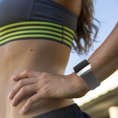 Mode luxus Mesh Edelstahl Uhrenarmband für Fitbit ionische 22mm Armband Magnetverschluss Band