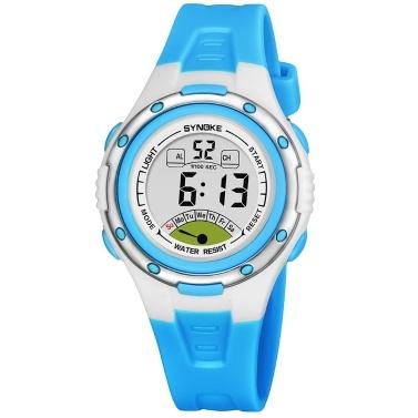 280392a8d02 SYNOKE Esporte Crianças Relógios De Pulso LEVOU Cronômetro Digital de  Alarme Luminosa Resistente À Água Menina Relógio Menino azul - Tomtop.com