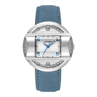 CADISEN C2027 Einfache Mode Herrenuhr Lederband Quarzwerk Uhr Wasserdichte Beiläufige Uhr Armbanduhr für Männer