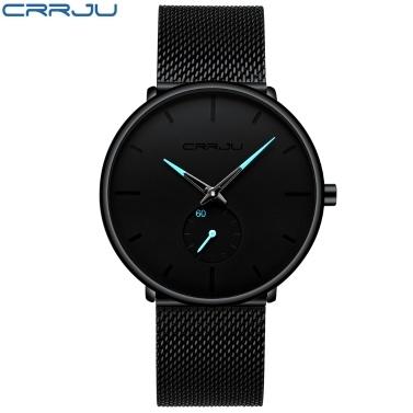 CRRJU 2150 Men Watch Quartz Esporte Simples Ultra-fino relógio de pulso