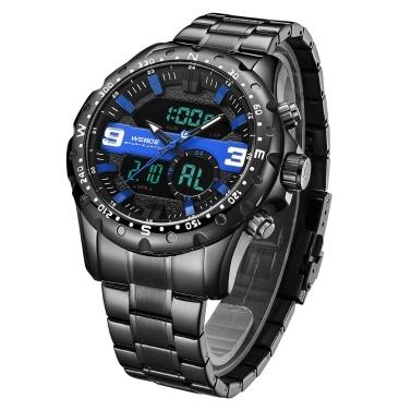 WEIDE WH8502 Dual Display Two Movement Digital Quartz Men Watch