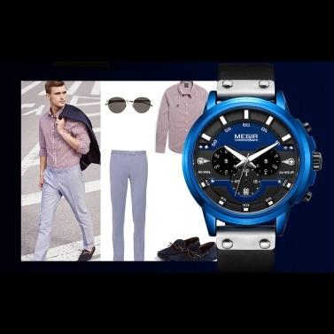 megir 2080 Fashion Quartz Sports Men Watch