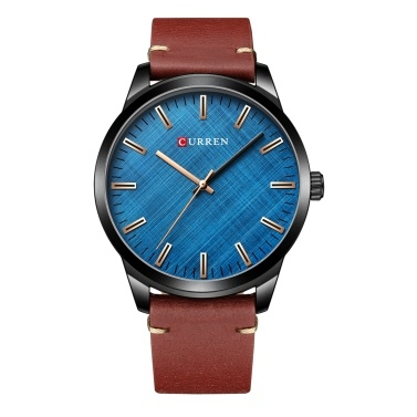 Men Quartz Watch CURREN Classic Male Fashion Wrist Watch 3ATM Waterproof Analog Casual Watches with Leather Strap