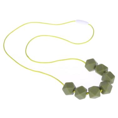 100% Food Grade Zahnen Beißring Halskette Soft Beads für Chew Baby-Kleinkind Pflege Schmuck Spielzeug für Mom BPA frei zu tragen