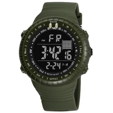 SYNOKE Männlichen Sportuhr Elektronische LED Digital Armbanduhren Stoppuhr Alarm Luminous Wasserdicht Für Männer Cloc k