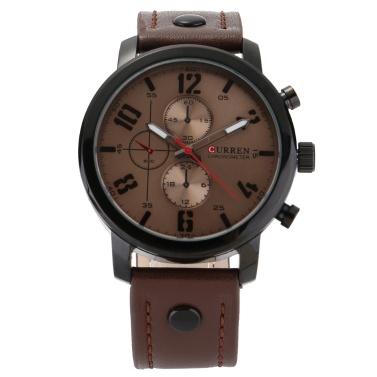 CURREN 8192 Quarz-Mann-Uhr Einzigartige Mode Sport Lässige Marke Uhr Geschäft Original Bewegung Lederband Wasserdichte Armbanduhr Relogio Masculino