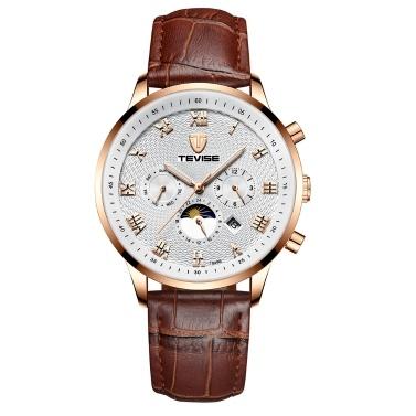 TEVISE T846B Man Watch Big Dial Mechanical Watch