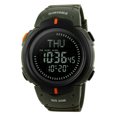SKMEI 1231 Multifuncional Digital 50M Impermeable Reloj deportivo para hombre