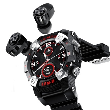 Conjunto de auriculares LEMFO LEMD Smartwatch + TWS