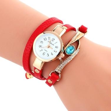 Fashion Quartz Watch Embedded Scientific Sapphire Peacock Eye Stylish Winding Women Wrist Watch