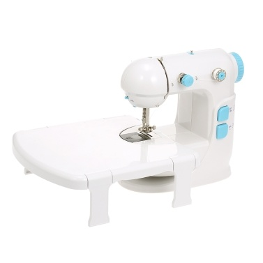 Mini Sewing Machine Adjustable Double Speed Double Thread Wide Table Cut Wire