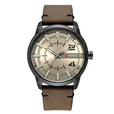 Curren Fashion Leder Uhren Männer Quarz Analog Datum Uhr Männlich Armbanduhren Relogio Masculino