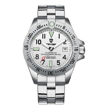 TEVISE T839A Geschäftsleute Automatische Mechanische Uhr Kalender Zeitanzeige Mode Lässig Leuchtende Hände 3ATM Wasserdichte Männliche Armbanduhr