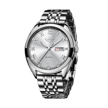 LIGE 9904 Quarzuhr Männer Top-marke Mode Chronograph Männlichen Edelstahl Wasserdichte Business Männer Armbanduhr Relogio Masculino