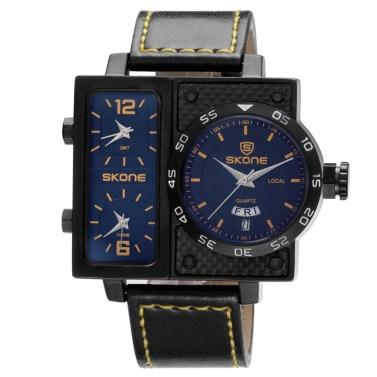 SKONE Sport Quartz Watch 3ATM Water-resistant Watch Men Wristwatches Male Calendar