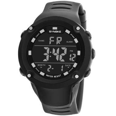 SYNOKE Männlichen Sportuhr Elektronische LED Digital Armbanduhren Stoppuhr Alarm Luminous Wasserdicht Für Männer Uhr