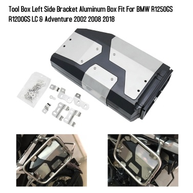 Motorrad Werkzeugkasten Linke Seitenhalterung Aluminiumkasten Passend für BMW R1250GS R1200GS LC & Adventure 2002 2008 2018