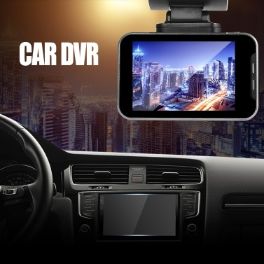 Anytek 1080P Car DVR Camera 2.35in IPS Touchscreen Dual Dash Cam WiFi WDR GPS 170° Wide Angle Video Driving Recorder Parking Monitor