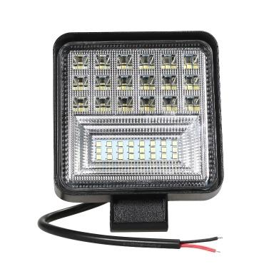 400W 6000K 4 LED Arbeitslichtleiste Flutpunktstrahl Offroad PKW Tageslicht-Umrüstlampe Cross Country für SUV-Nebelscheinwerfer