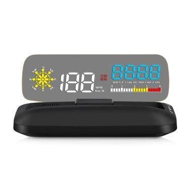 Car HUD Display OBD+GPS Head Up Display High Definition Speedometer Car Diagnostic Tool
