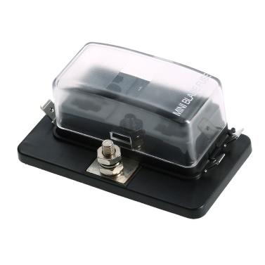 4-Wege-Mini Blade Fuse Box Halter APM ATM 5A 10A 25A für Auto-Boots-Marine-Trike 12V 24V