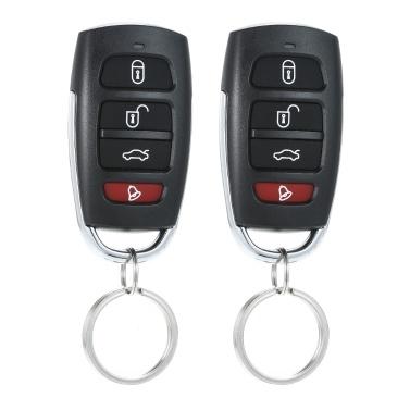 Universal Car Vehicle Security System Alarmanlage Schutz Diebstahlsicherung 2 Fernbedienung