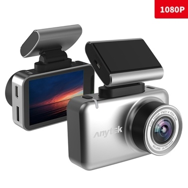 Anytek 2.35in 1080P Coche DVR Cámara Dual Dash Cam WiFi WDR GPS 135 ° Gran angular Video Driving Recorder Parking Monitor